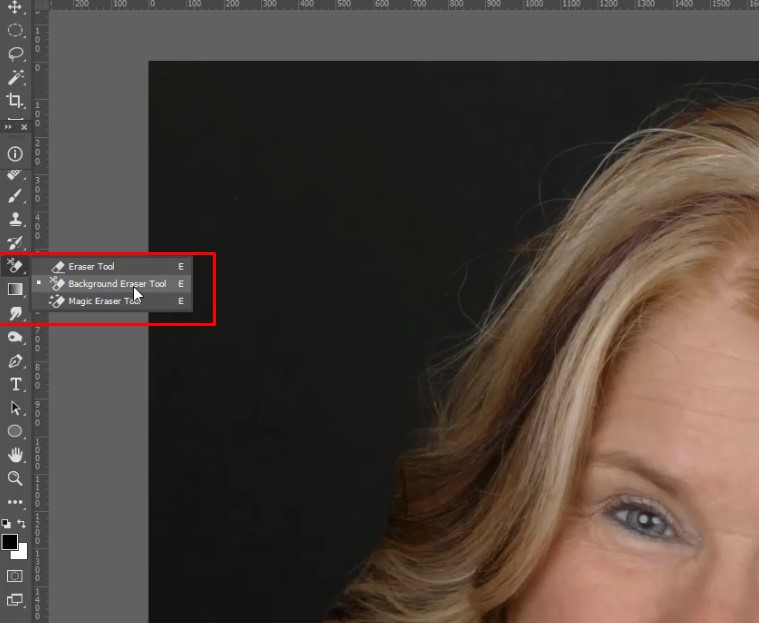 5.Take the background eraser tool and erase the background.
